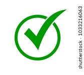 green check mark icon in a... | Shutterstock .eps vector #1033216063