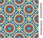 seamless pattern with mandala.... | Shutterstock .eps vector #1033223593