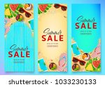 set of summer sale vertical... | Shutterstock .eps vector #1033230133