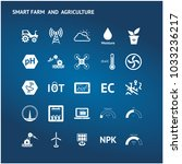 smart agriculture  precision... | Shutterstock .eps vector #1033236217
