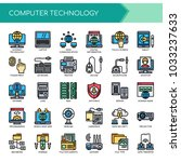 computer technology   thin line ... | Shutterstock .eps vector #1033237633