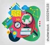geography. set of illustration... | Shutterstock .eps vector #1033254133
