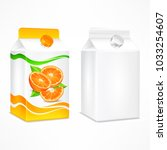 packages for juice  cardboard... | Shutterstock .eps vector #1033254607