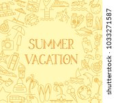 vector outline summer vacation... | Shutterstock .eps vector #1033271587