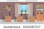 office workspace design with... | Shutterstock .eps vector #1033287217