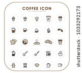 coffee icons 03 | Shutterstock .eps vector #1033292173
