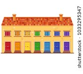 Cute Vector Yellow House With...