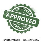 approved rubber stamp | Shutterstock .eps vector #1033297357