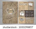 vintage bakery menu design on... | Shutterstock .eps vector #1033298857