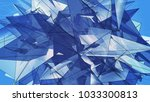 polygonal blue background.... | Shutterstock . vector #1033300813