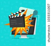 movie or online cinema on... | Shutterstock .eps vector #1033311007