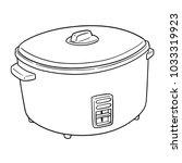 vector of rice cooker | Shutterstock .eps vector #1033319923