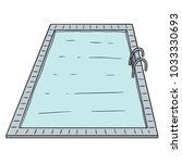 vector of swimming pool | Shutterstock .eps vector #1033330693