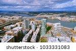 unique aerial perspective of... | Shutterstock . vector #1033331083