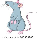 Happy Rat Cartoon - stock vector