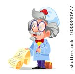 an old and wise doctor in... | Shutterstock .eps vector #1033340977
