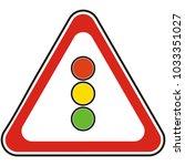 traffic sign  road sign ... | Shutterstock .eps vector #1033351027