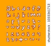 vector fonts   handwritten... | Shutterstock .eps vector #1033361713
