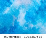 blue watercolor splash stroke... | Shutterstock . vector #1033367593