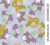 tropic seamless pattern with... | Shutterstock .eps vector #1033368133