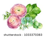 greeting card  bouquet of... | Shutterstock . vector #1033370383