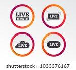 live music icons. karaoke or on ... | Shutterstock .eps vector #1033376167