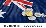 cryptocurrency in australia... | Shutterstock . vector #1033377193