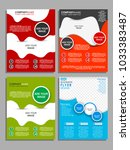 business brochure. flyer design.... | Shutterstock .eps vector #1033383487