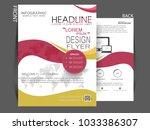 brochure design  brochure...   Shutterstock .eps vector #1033386307