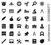 flat vector icon set   book... | Shutterstock .eps vector #1033388377