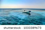 Small photo of Egypt. The sea is blue, the sky is clear, the water is clear.