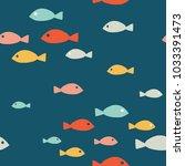 simple sea vector seamless... | Shutterstock .eps vector #1033391473