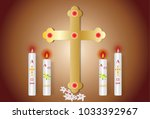 Paschal Candle Vector Image An...