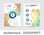 brochure template  flyer design ... | Shutterstock .eps vector #1033393957