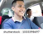 portrait of happy driver taking ... | Shutterstock . vector #1033398697