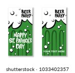 set of st. patrick's day party... | Shutterstock .eps vector #1033402357