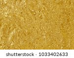 gold foil leaf shiny texture ... | Shutterstock . vector #1033402633