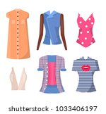 jackets and shirts set of... | Shutterstock .eps vector #1033406197