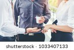 group of business people... | Shutterstock . vector #1033407133