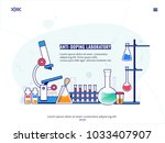 lab chemical research process.... | Shutterstock .eps vector #1033407907