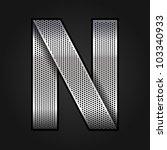 Letter Metallic Chromium Ribbo...
