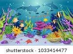 marine habitats and the beauty... | Shutterstock .eps vector #1033414477