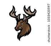 deer e sport logo | Shutterstock .eps vector #1033420597