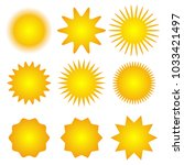 set of sun icons. spring.... | Shutterstock .eps vector #1033421497