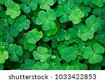 Background green shamrock ...