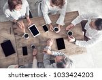group of business people... | Shutterstock . vector #1033424203