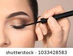 professional visage artist...   Shutterstock . vector #1033428583