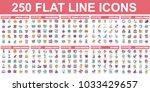 simple set of vector flat line... | Shutterstock .eps vector #1033429657