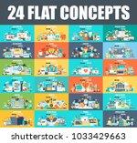 modern set of flat concept web... | Shutterstock .eps vector #1033429663
