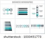 abstract infographics number... | Shutterstock .eps vector #1033451773